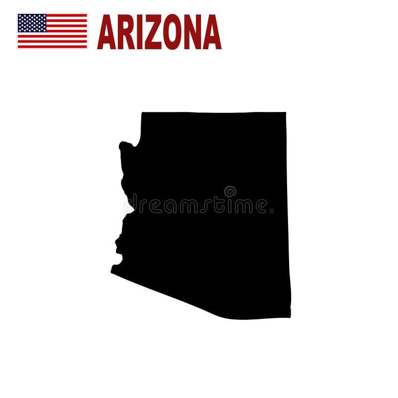 Carte d'U S état de l'Arizona sur un fond blanc illustration de vecteur