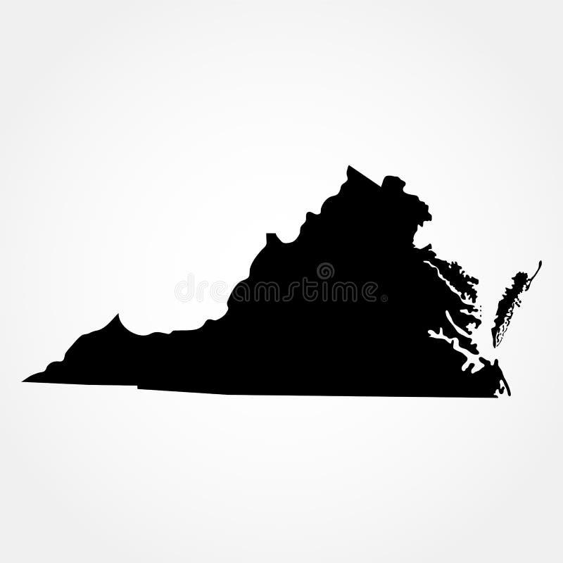 Carte d'U S État de la Virginie illustration libre de droits