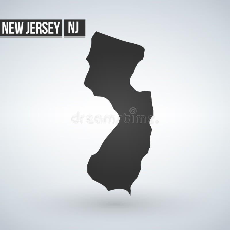 Carte d'U S état d'illustration de vecteur de New Jersey illustration libre de droits