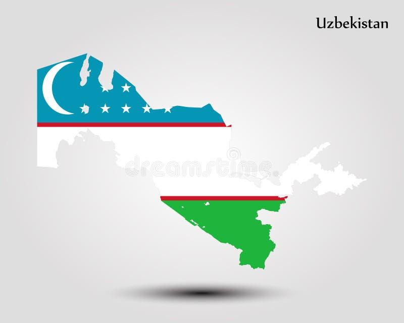 Carte d'Uzbekistan illustration stock