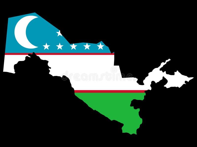 Carte d'Uzbekistan illustration libre de droits