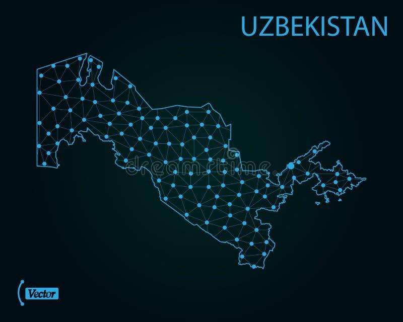 Carte d'Uzbekistan Illustration de vecteur Carte du monde illustration de vecteur