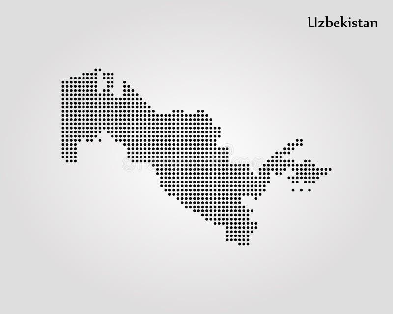 Carte d'Uzbekistan Illustration de vecteur Carte du monde illustration libre de droits