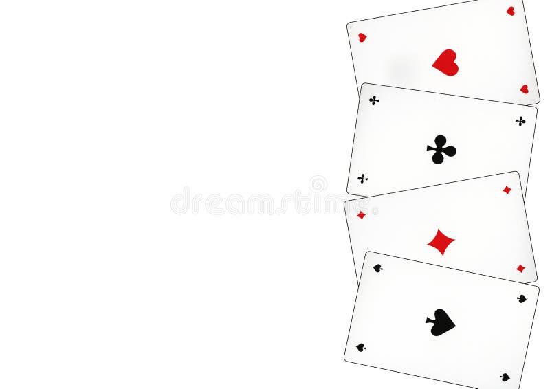 Carte da gioco che sono chiamate piccate immagini stock