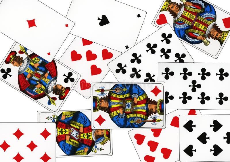 Carte da gioco che sono chiamate piccate fotografia stock libera da diritti