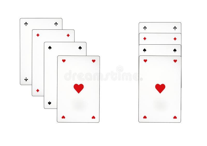 Carte da gioco che sono chiamate piccate fotografie stock libere da diritti