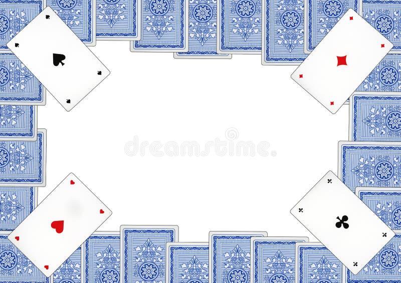 Carte da gioco che sono chiamate piccate fotografia stock