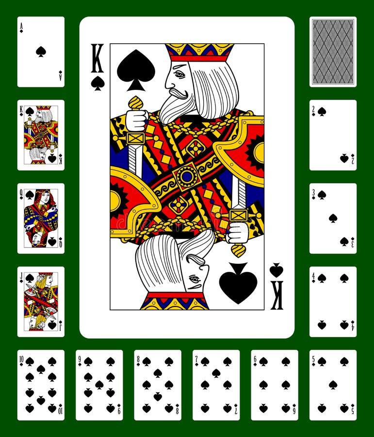 Carte da gioco del vestito delle vanghe illustrazione vettoriale