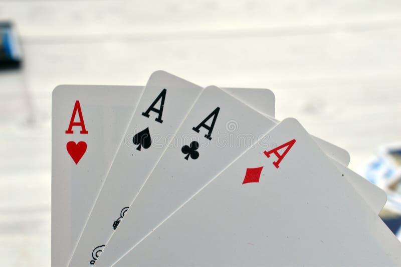 Carte da gioco per il casinò fotografia stock libera da diritti