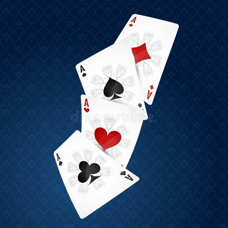 Carte da gioco quattro vestiti illustrazione di stock