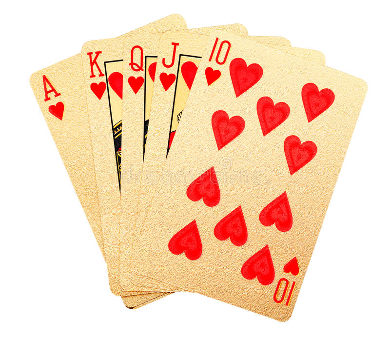 Download Carte Da Gioco Spazzolate Oro Fotografia Stock - Immagine di oggetto, casino: 55358076