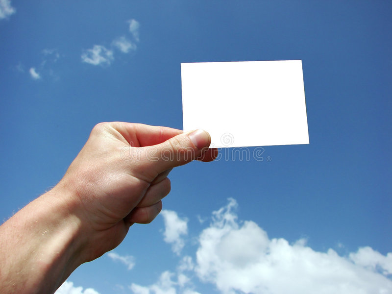 Carte dans une main photo libre de droits
