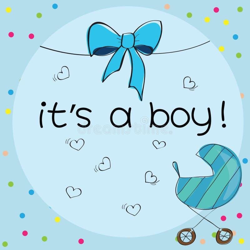Carte de bébé - sa un thème de garçon illustration stock