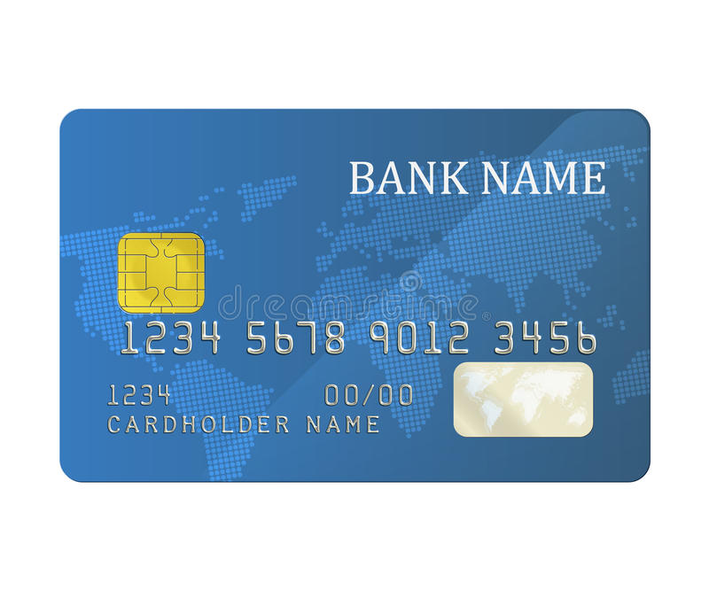 Carte de banque illustration libre de droits