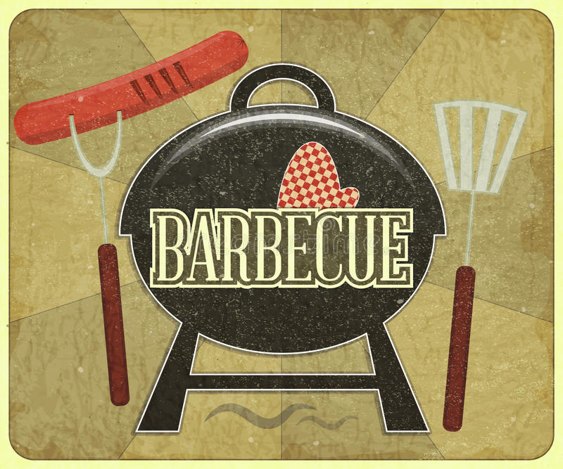 Carte de barbecue illustration libre de droits