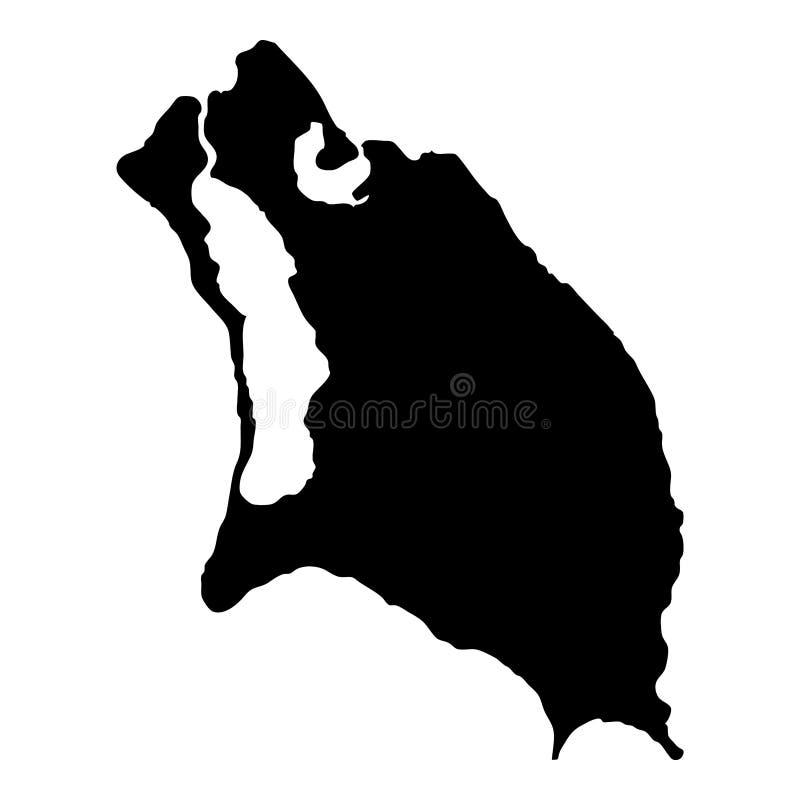 Carte de Barbuda illustration de vecteur