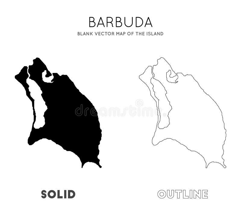 Carte de Barbuda illustration libre de droits