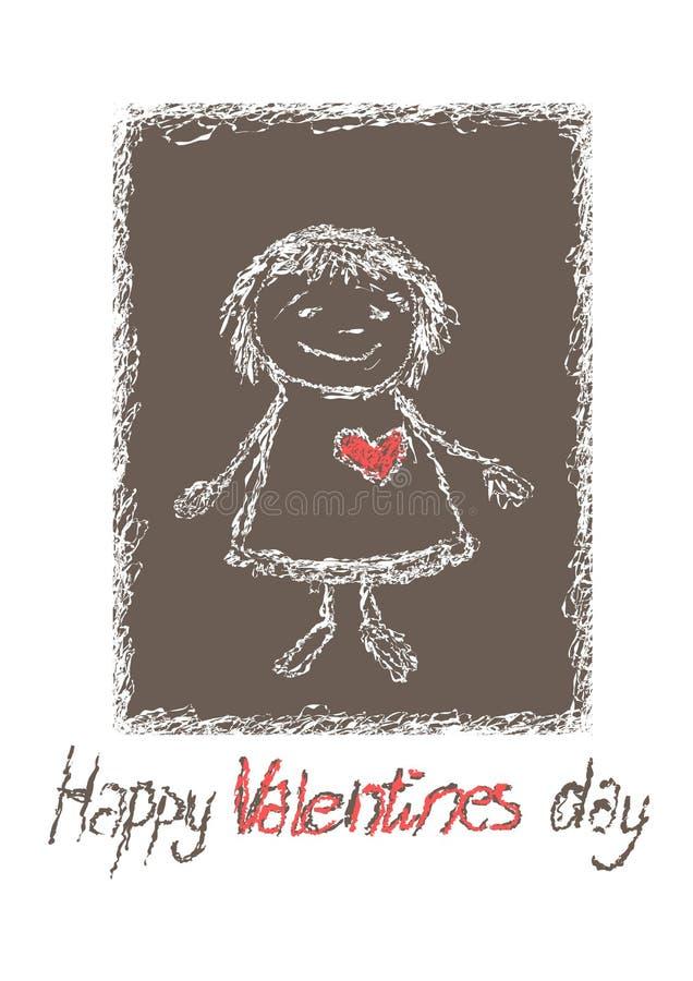 Carte de beauté pour le jour de valentines illustration libre de droits