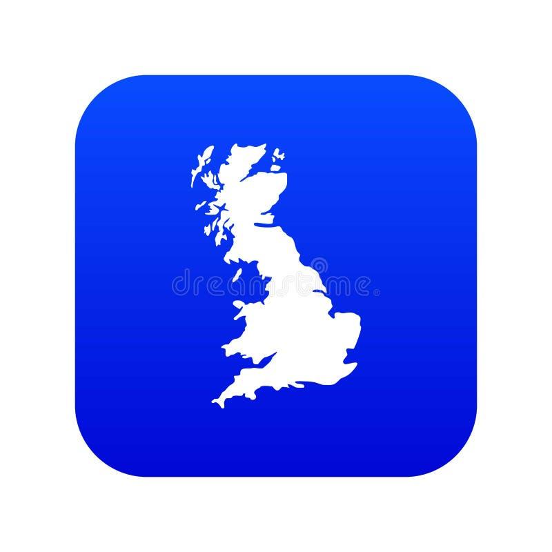 Carte de bleu numérique d'icône de la Grande-Bretagne illustration de vecteur