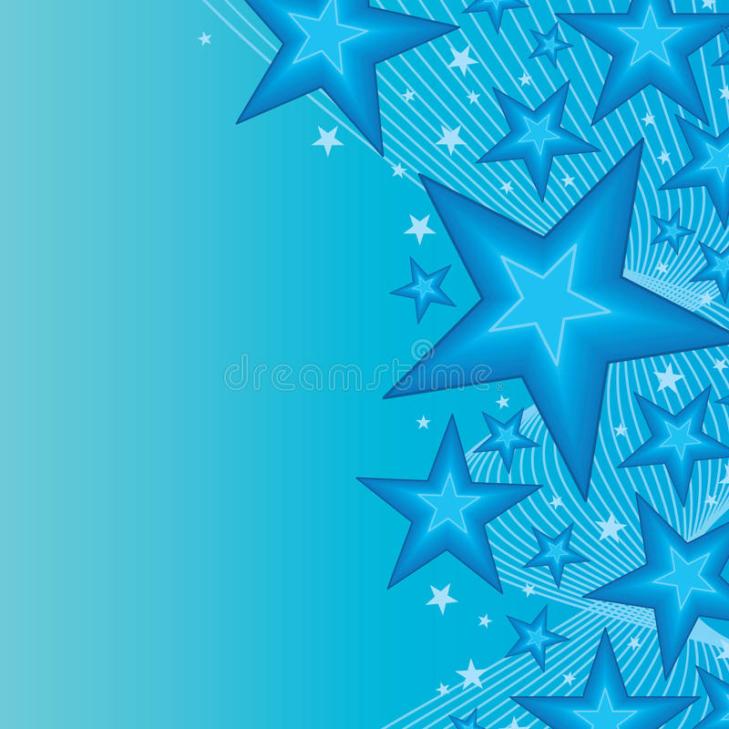 Carte de bon côté d'étoile bleue illustration stock