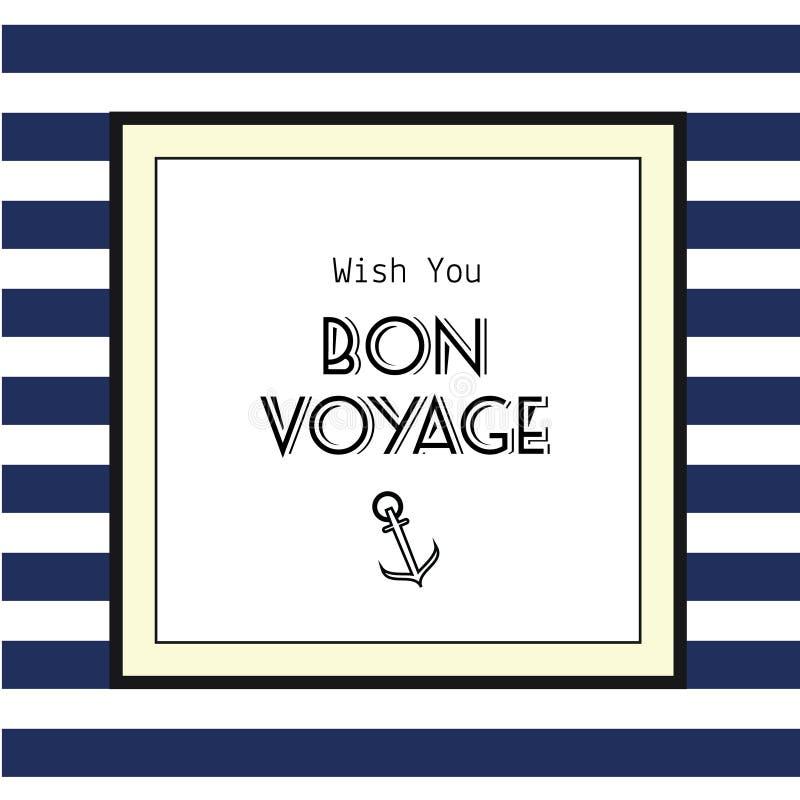 Carte de Bon Voyage illustration stock