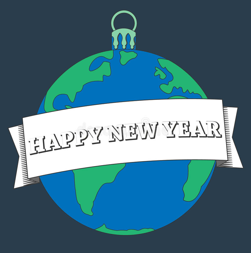 Carte de bonne année d'illustration photo libre de droits
