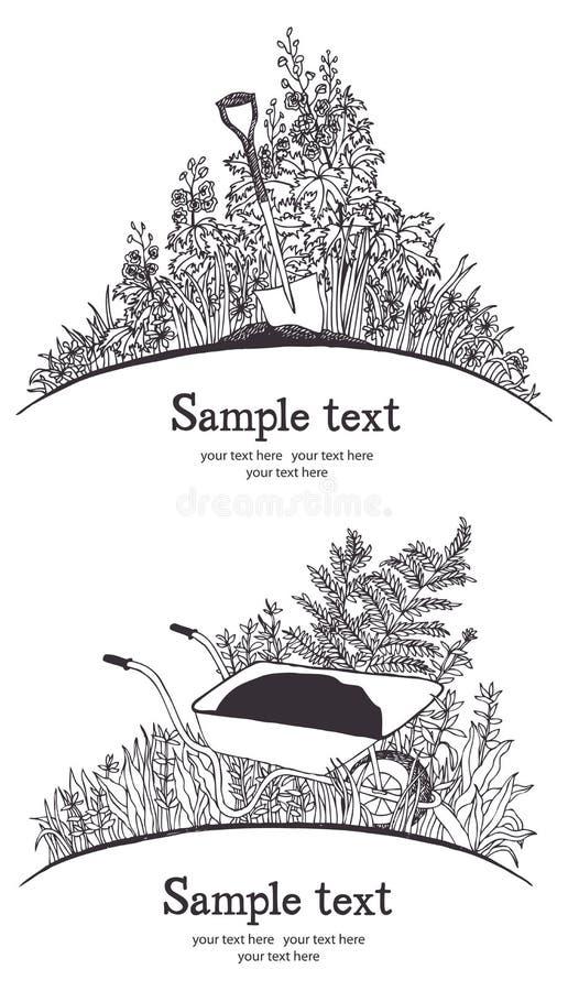 Carte de brouette de jardin images libres de droits for Brouette de jardin