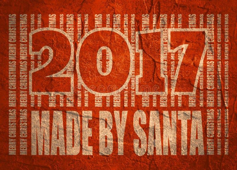 Carte de célébration de nouvelle année et de Noël Fait par le texte de Santa photos libres de droits