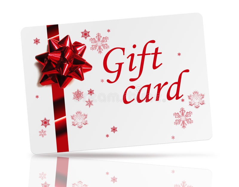 Carte de cadeau images stock