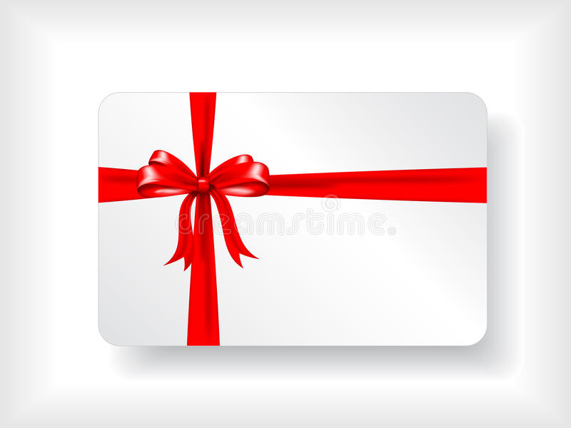 Carte de cadeau avec la bande illustration stock
