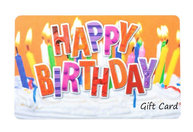 Carte de cadeau d'anniversaire images stock