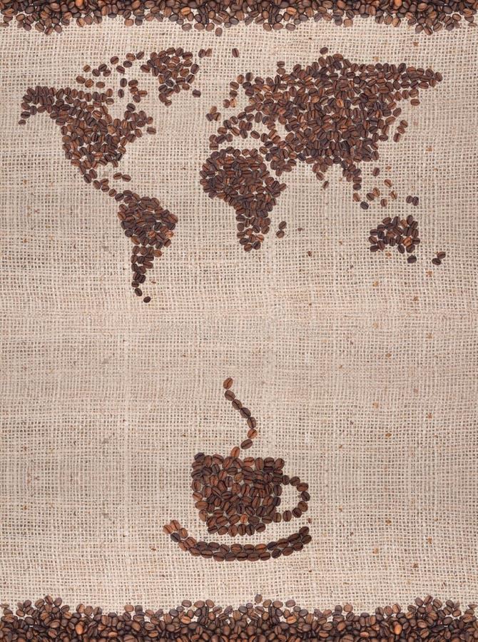 Carte de café photographie stock