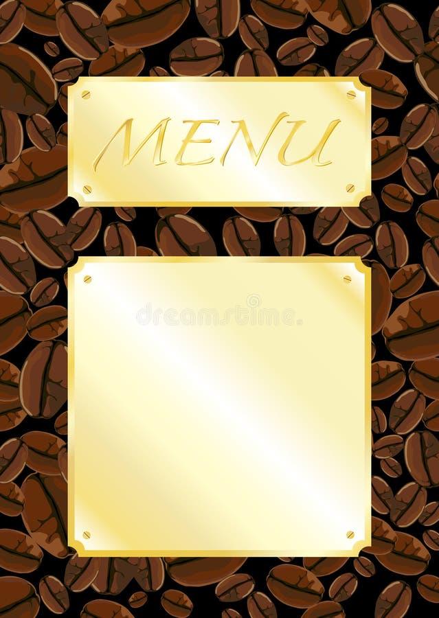 Carte de café-restaurant illustration stock