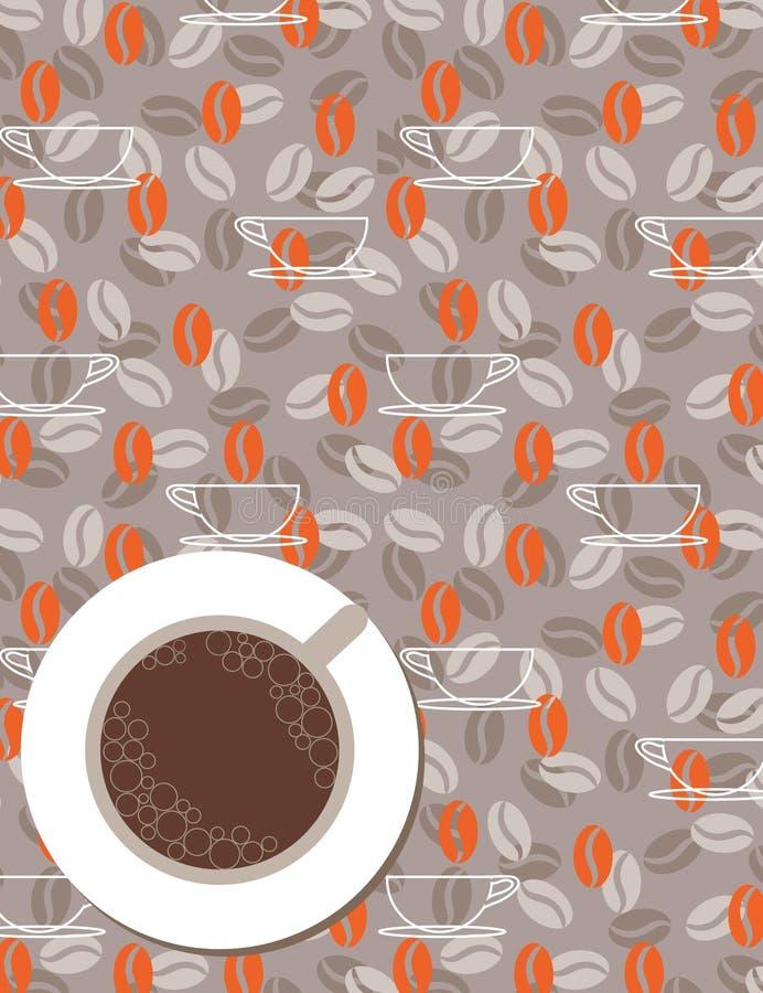 Carte de carte ou de café (vecteur) illustration stock