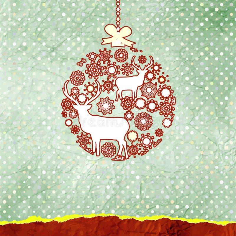 Carte de cerfs communs de Noël. ENV 8 illustration de vecteur