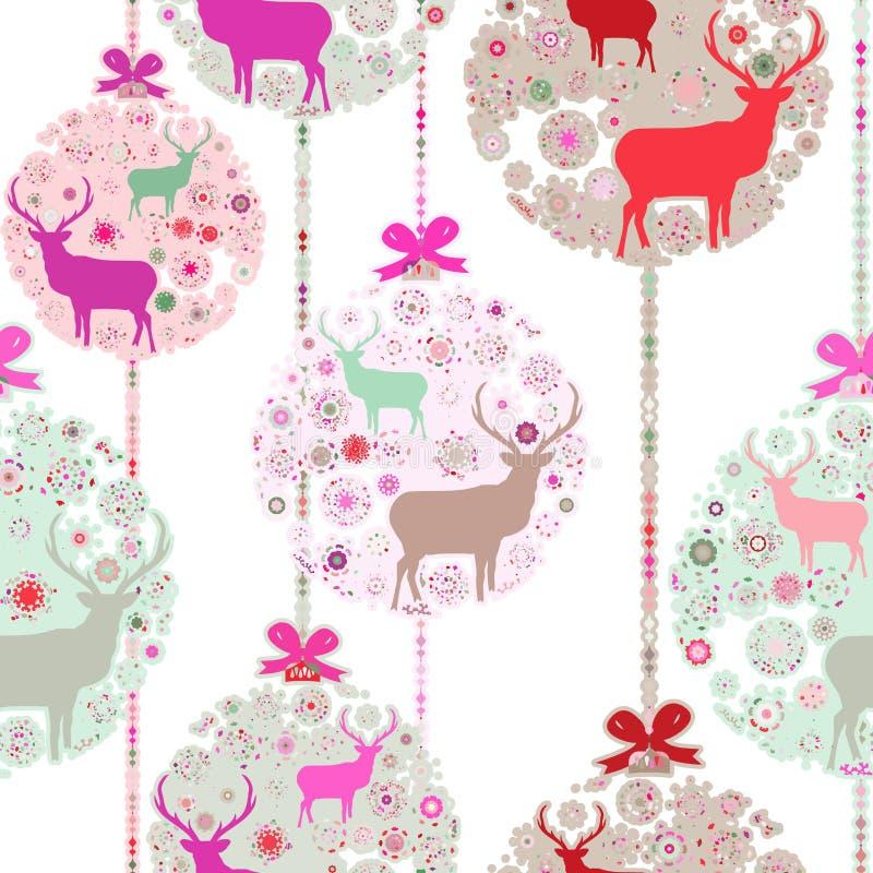 Carte de cerfs communs de Noël. ENV 8 illustration libre de droits