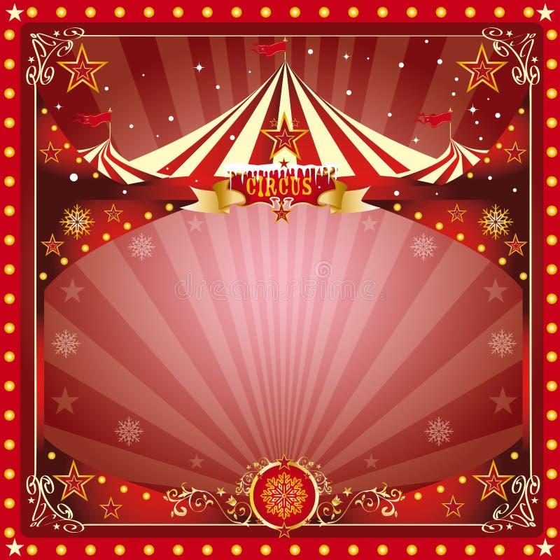 Carte de cirque de Noël illustration libre de droits