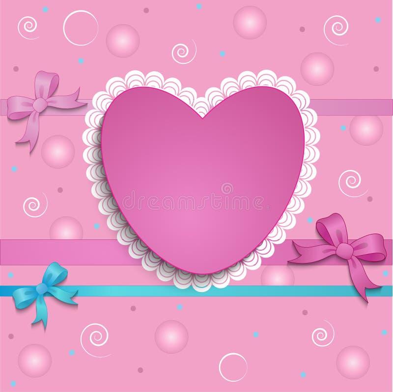 Carte de coeur illustration de vecteur