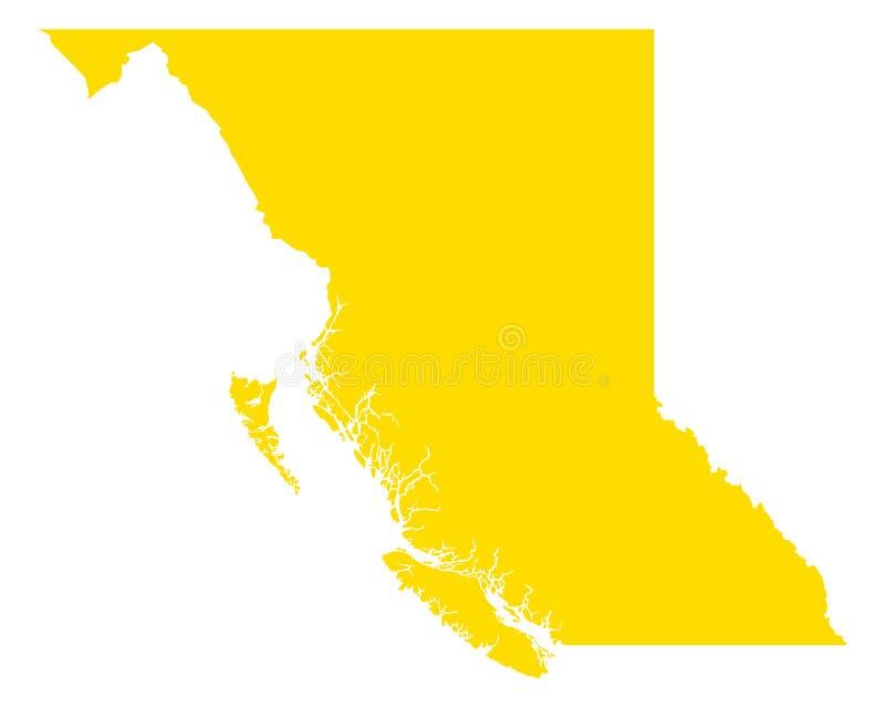 Carte de Colombie-Britannique illustration de vecteur