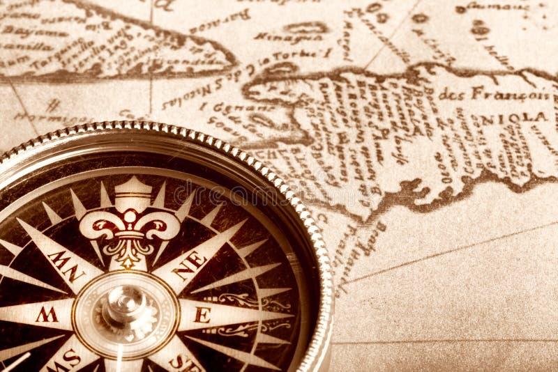 carte de compas vieille photo stock