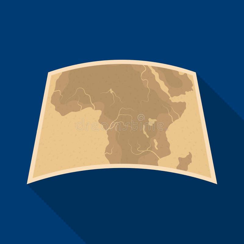 Carte de continent Afrique Icône simple de safari africain en Web plat d'illustration d'actions de symbole de vecteur de style illustration de vecteur