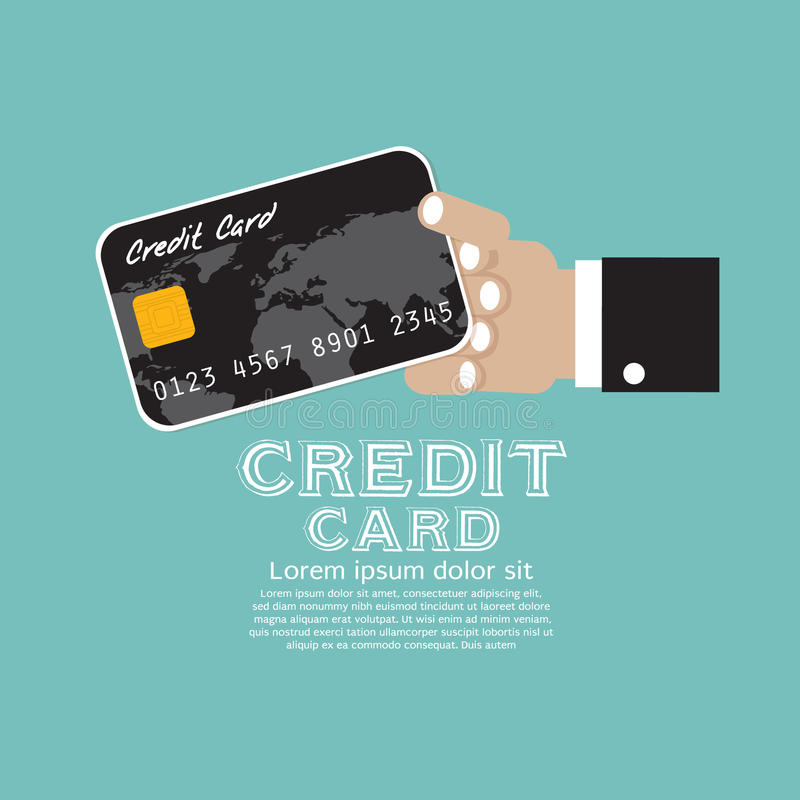Carte de crédit. illustration de vecteur