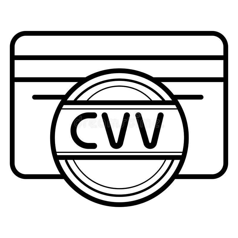 Carte de crédit avec cvv le code illustration libre de droits