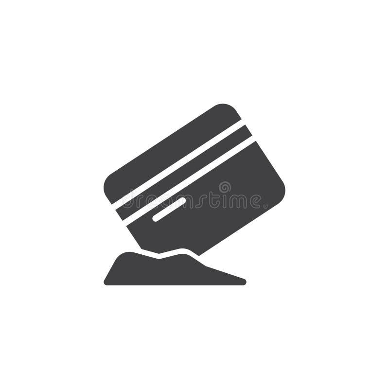 Carte de crédit avec l'icône de vecteur de cocaïne illustration libre de droits