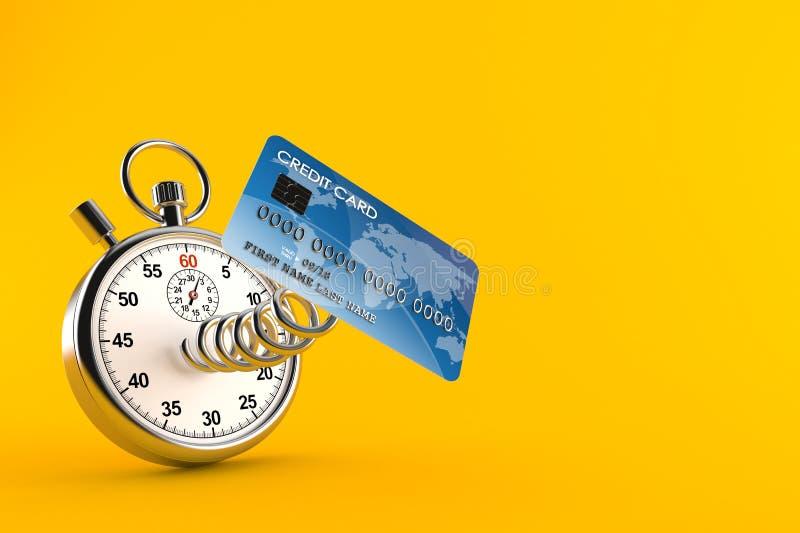 Carte de crédit avec le chronomètre illustration libre de droits