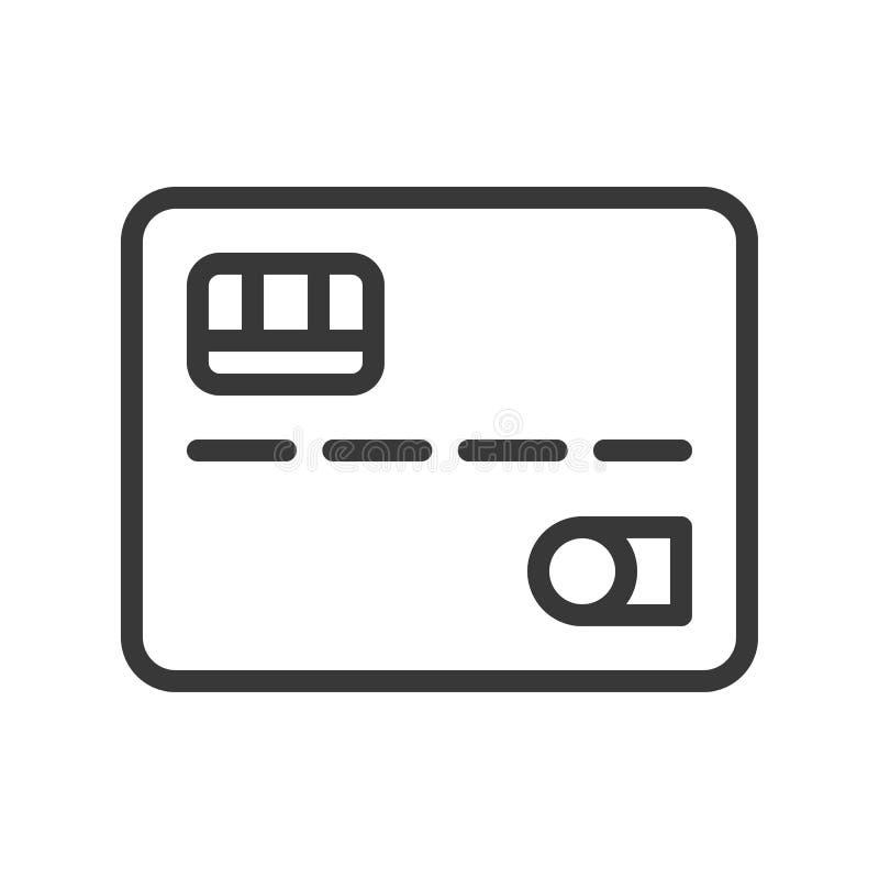 Carte de crédit, banque et icône relative financière, OU editable de course illustration libre de droits