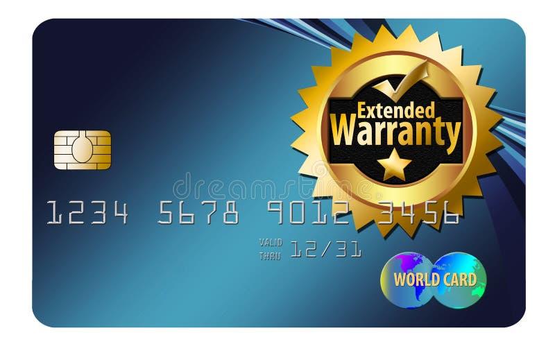 carte de crédit de garantie illustration de vecteur