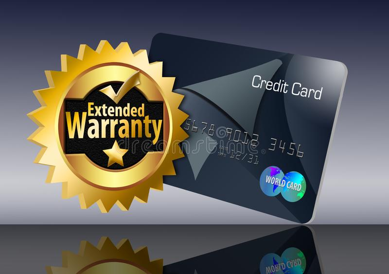 carte de crédit de garantie illustration stock