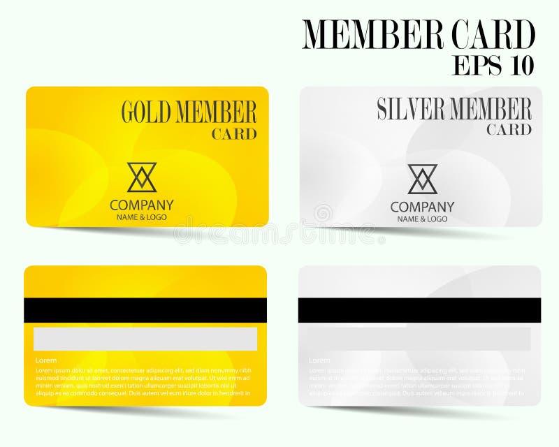 Carte de crédit moderne, carte des affaires VIP, carte de membre illustration libre de droits