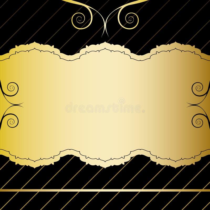 Carte de cru d'or illustration libre de droits